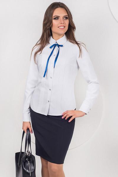 Классическая блуза с застроченными складками, Б-187